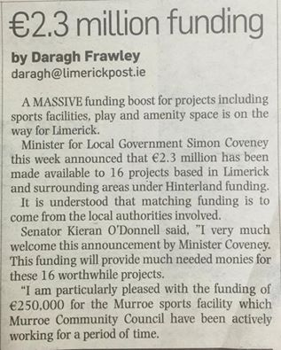 Murroe Field Project granted Hinterland Funding