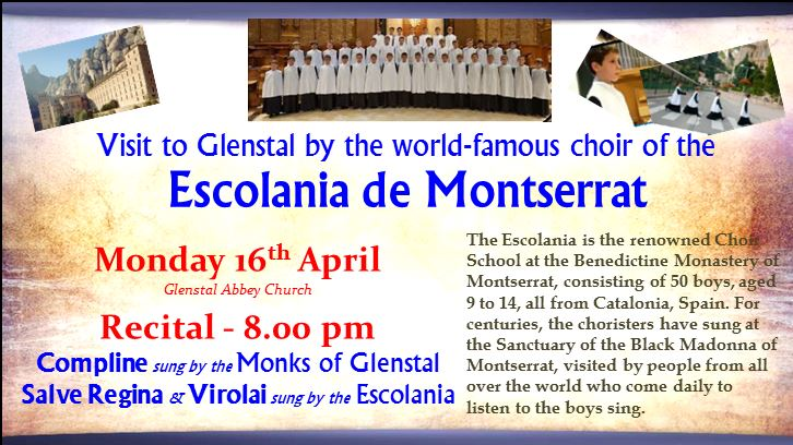 Recital By Escolania de Montserrat in Glenstal Abbey Mon 16th  @8pm