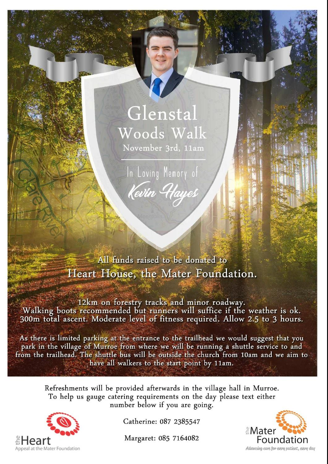 Glenstal Woods Charity Walk – Sat  3rd Nov 11.00AM